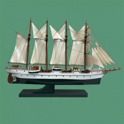 photo de la maquette du voilier